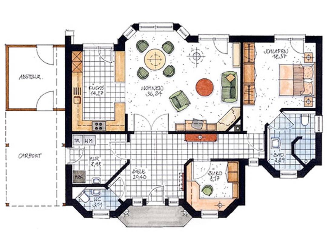 Haus Oste Grundriss Erdgeschoss