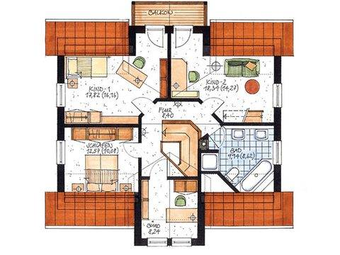 Haus Stuhr Grundriss Dachgeschoss