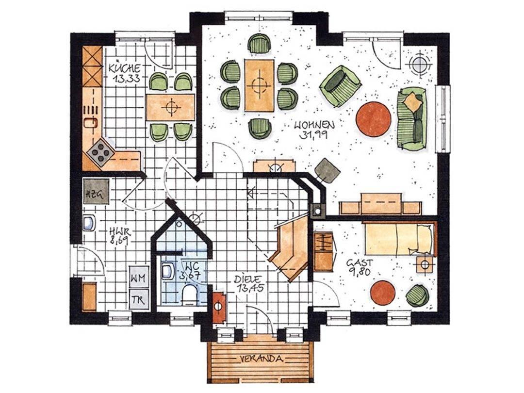 Haus Stuhr Grundriss Erdgeschoss