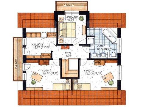 Haus Bergen Grundriss Dachgeschoss