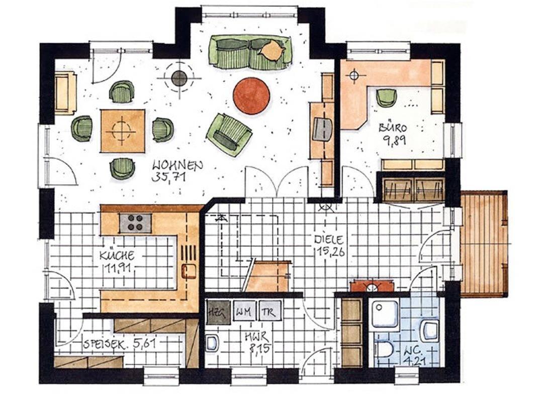 Haus Bergen Grundriss Erdgeschoss
