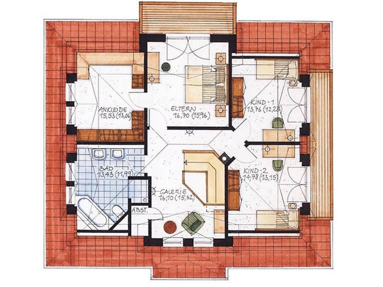 Haus Ahrenshoop Grundriss Dachgeschoss