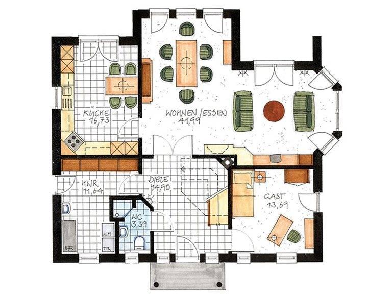 Haus Ahrenshoop Grundriss Erdgeschoss