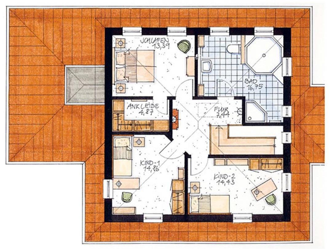 Haus Lesum Grundriss Dachgeschoss