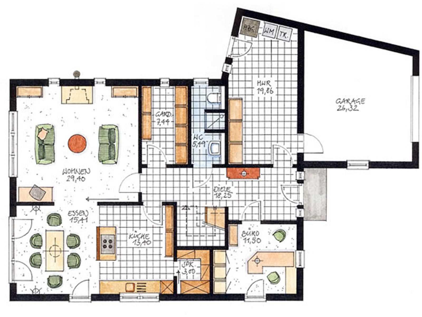 Haus toscana poggenburg holzbau for Muster grundrisse haus