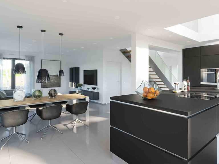 Musterhaus Fellbach Selection-E-235 Wohnbereich