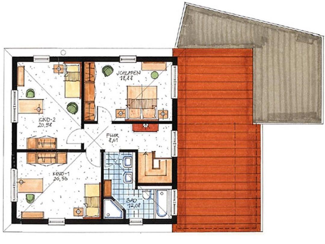 Haus Münster Grundriss Dachgeschoss