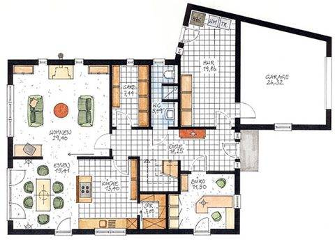 Haus Münster Grundriss Erdgeschoss