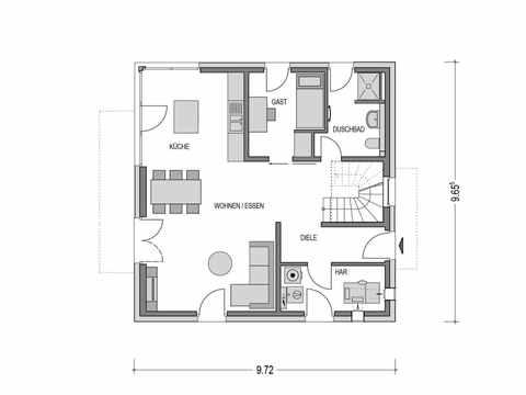 Musterhaus Lohfelden Arcus 140 Grundriss EG