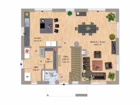 Musterhaus VarioCity 150 Grundriss EG