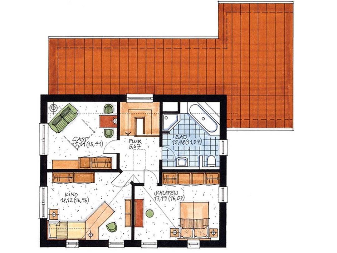 Haus Hambergen Grundriss Dachgeschoss