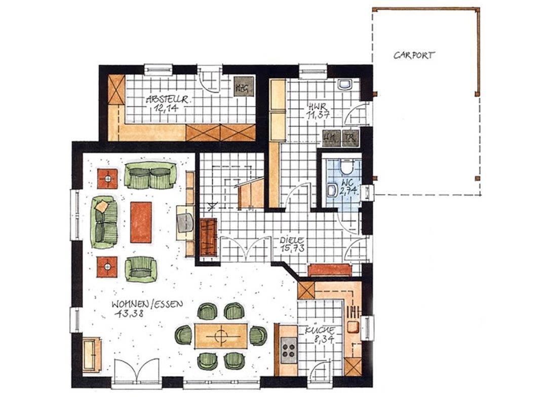 Haus Hambergen Grundriss Erdgeschoss