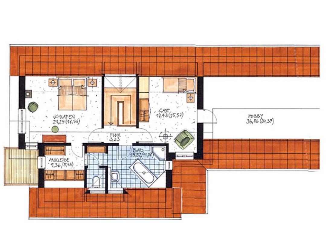 Haus Heidkrug Grundriss Dachgeschoss