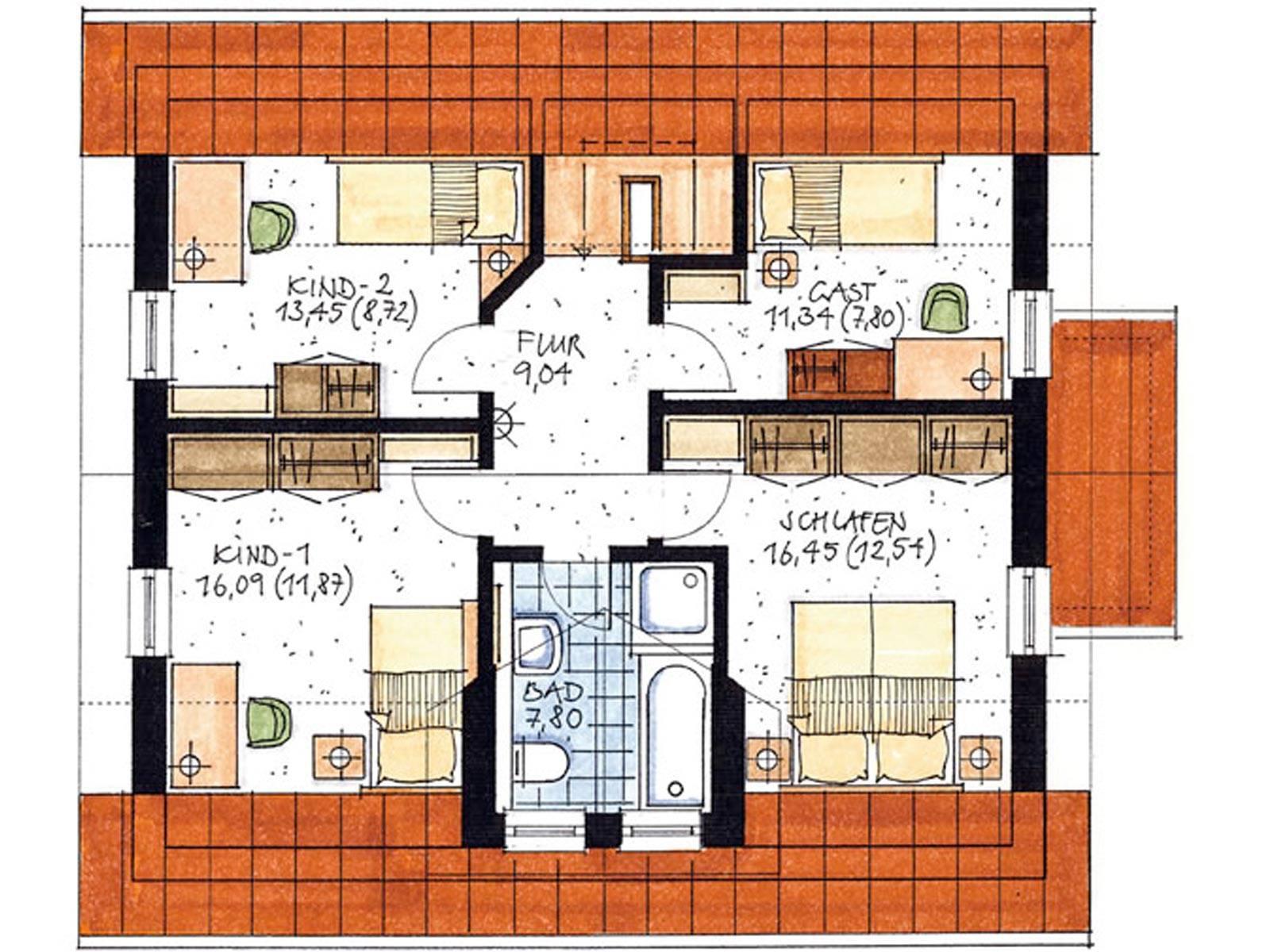Haus Hamm Grundriss Dachgeschoss