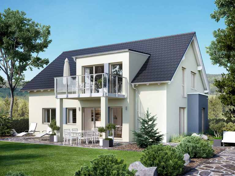Zweifamilienhaus SOLUTION 204 V3 L - Living Haus