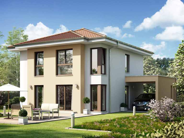 Einfamilienhaus SUNSHINE 136 V6 - Living Haus