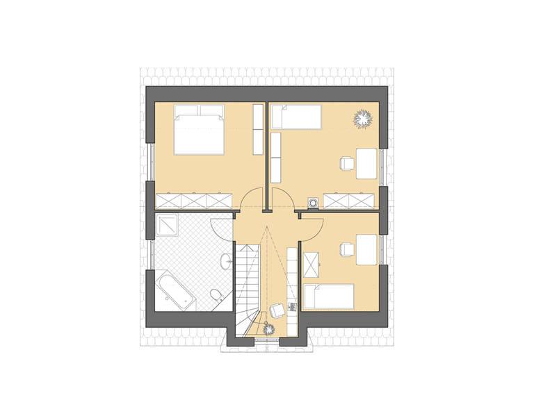 Friesenhaus 145 Grundriss Dachgeschoss