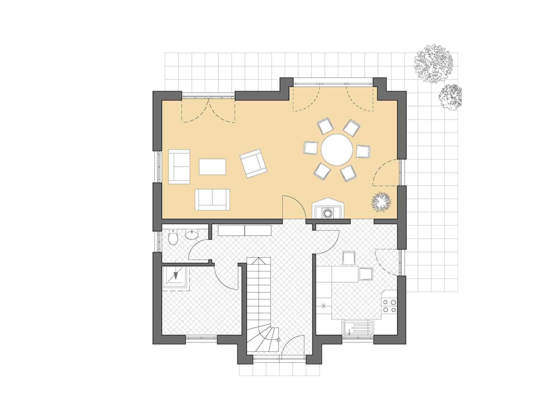 Friesenhaus 145 Grundriss Erdgeschoss