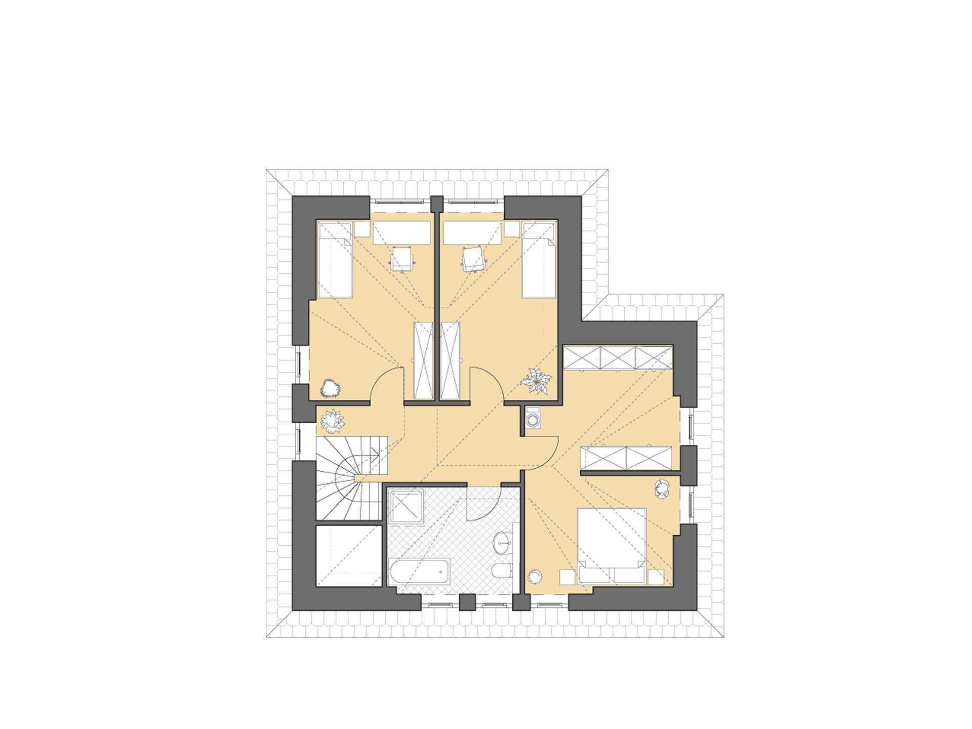 Haus Rügen Grundriss Dachgeschoss