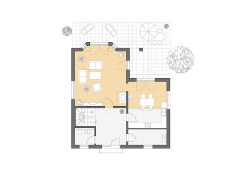 Haus Rügen Grundriss Erdgeschoss