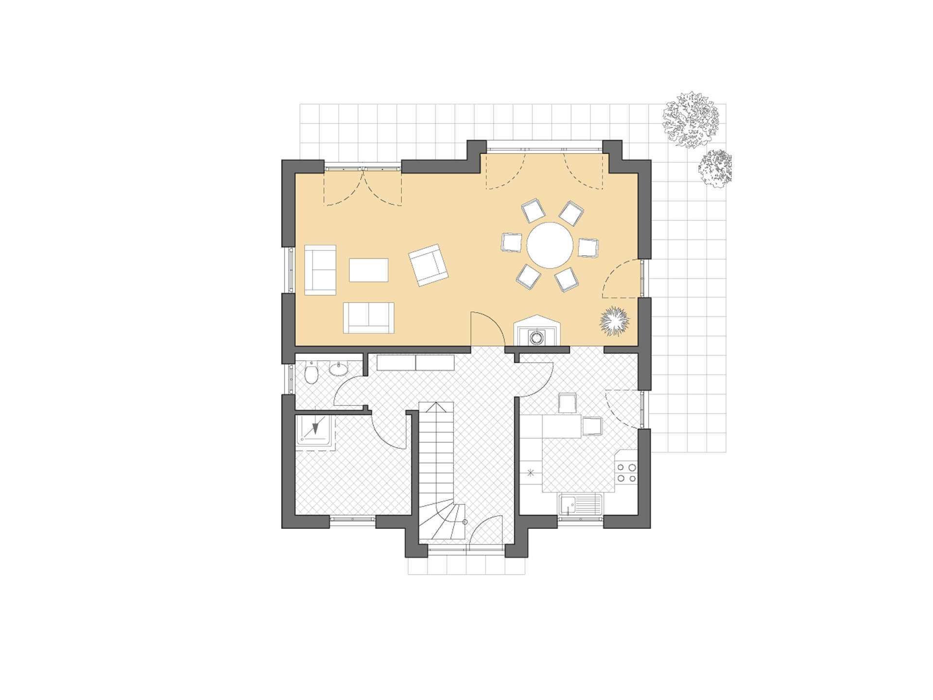 Turmhaus 152 Grundriss Erdgeschoss