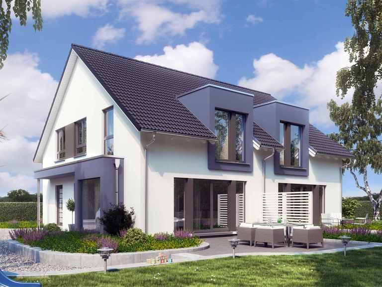 Zweifamilienhaus SOLUTION 242 V3 - Living Haus