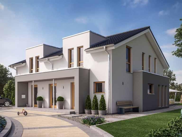 Zweifamilienhaus SOLUTION 242 V4 - Living Haus