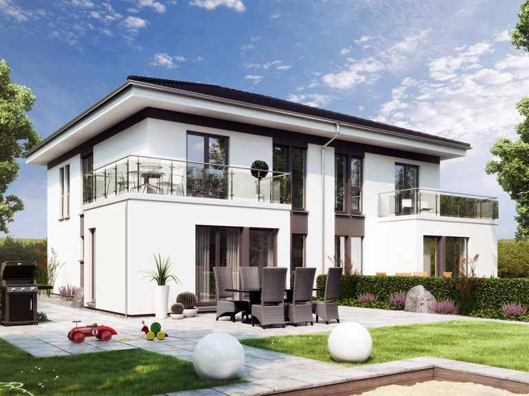 Zweifamilienhaus SOLUTION 242 V6 - Living Haus
