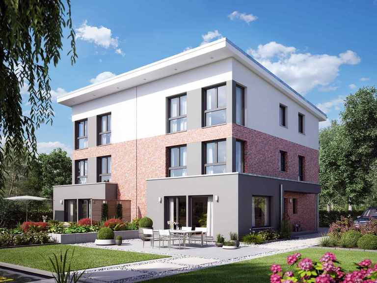 Doppelhaus SOLUTION 126 XL V4 - Living Haus