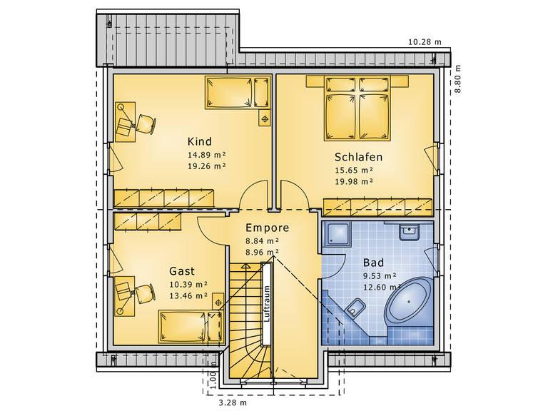 Grundriss Obergeschoss Contrada