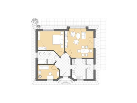 Bungalow Rerik Grundriss Erdgeschoss