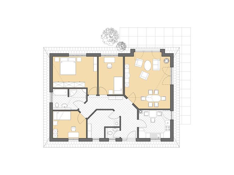 Bungalow Zingst Grundriss Erdgeschoss