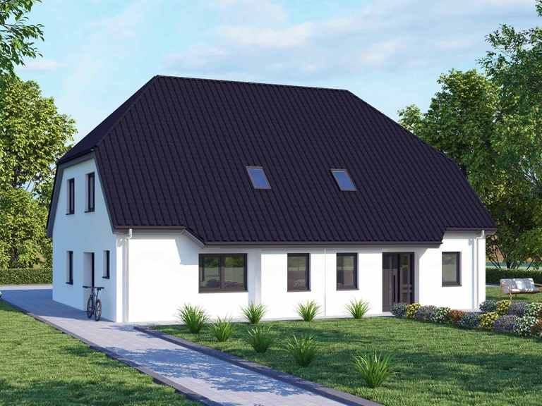 Doppelhaus 120 Basis - BAUDIREKT