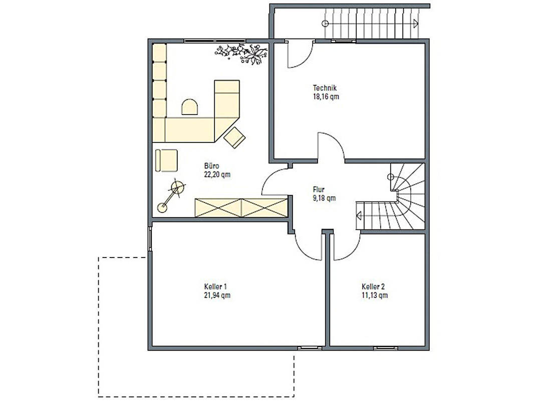 Haus Isar Grundriss Untergeschoss