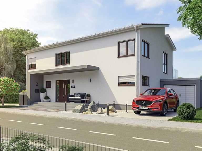 Pultdachhaus Coburg - OHB-Hausbau Gruppe