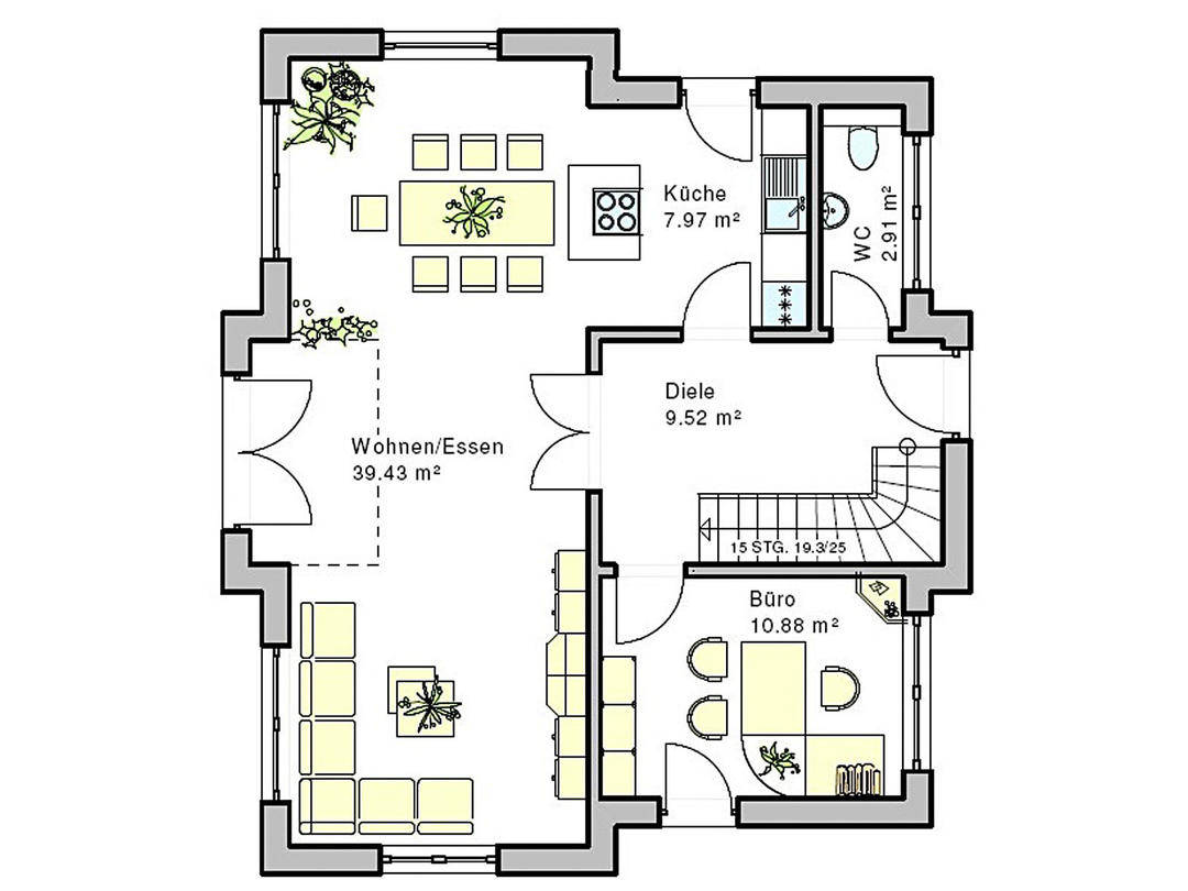 Haus Böblingen Grundriss Erdgeschoss