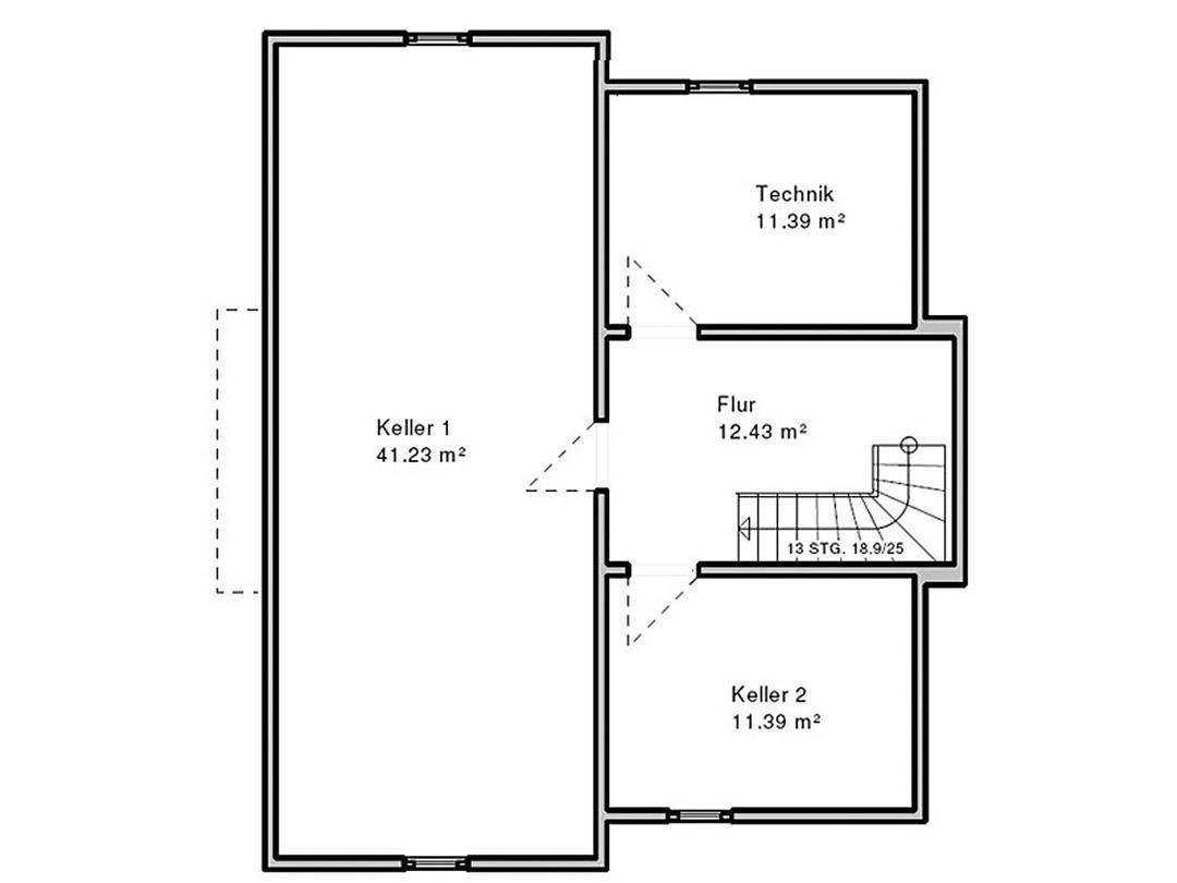 Haus Böblingen Grundriss Untergeschoss