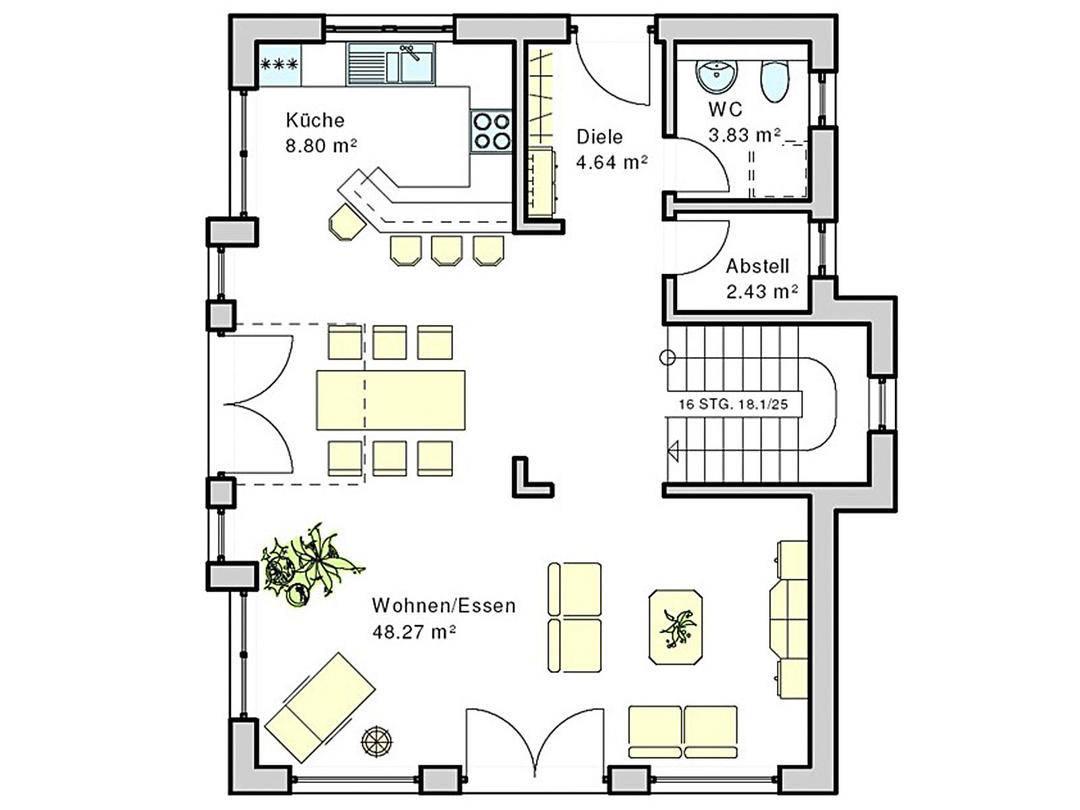 Haus Suhr Grundriss Erdgeschoss
