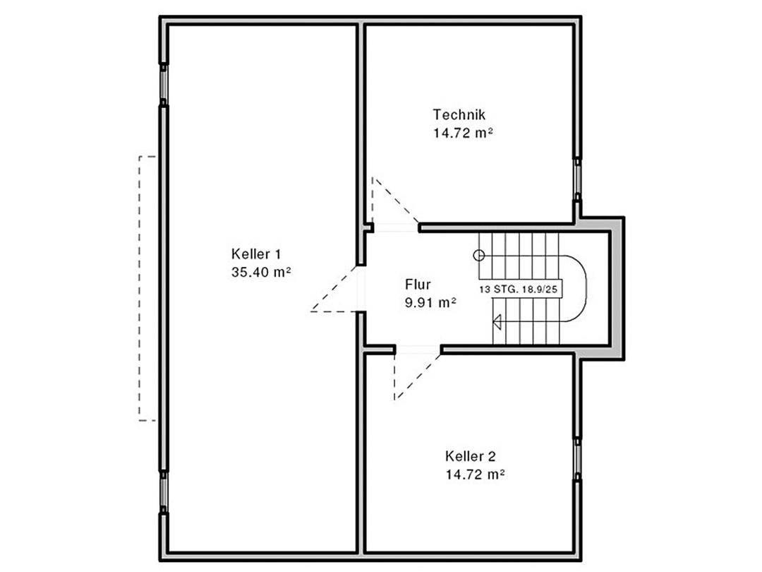 Haus Suhr Grundriss Untergeschoss