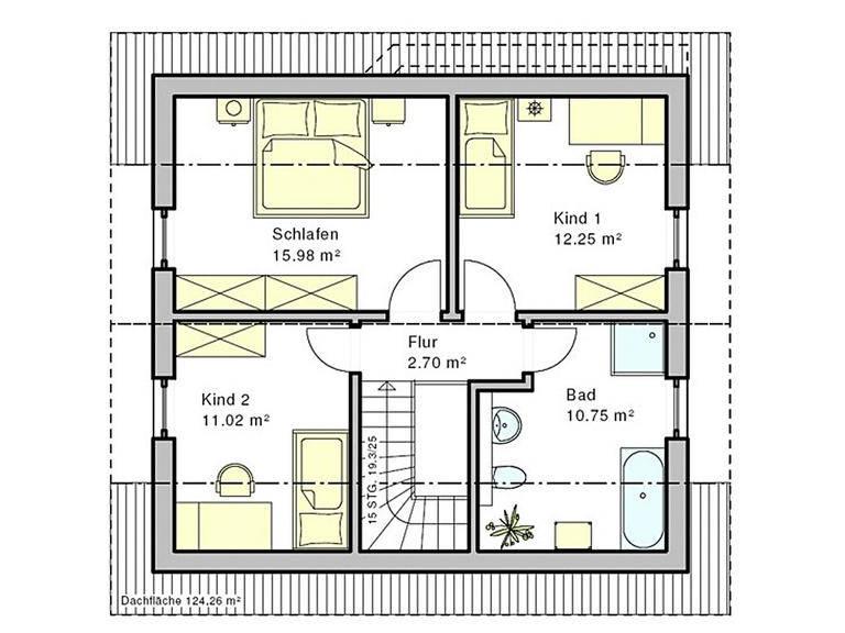 Haus Enz Grundriss Dachgeschoss