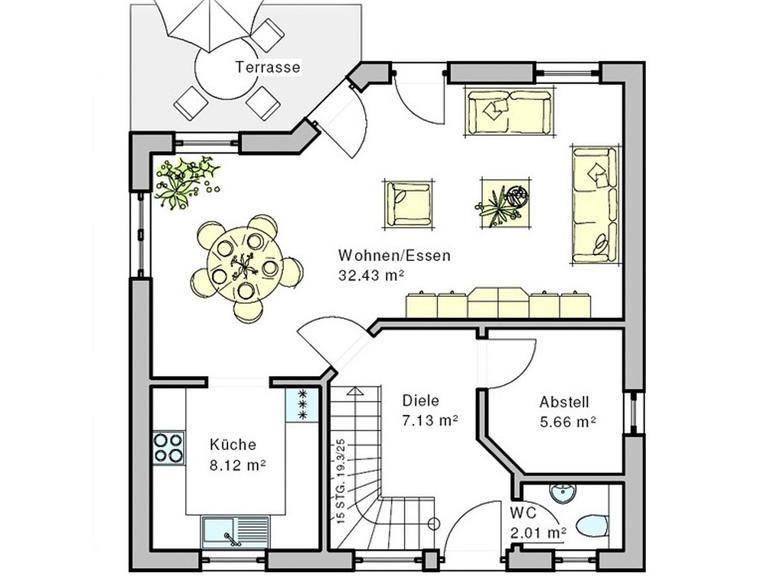 Haus Enz Grundriss Erdgeschoss