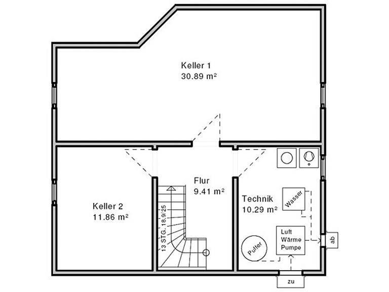 Haus Enz Grundriss Untergeschoss