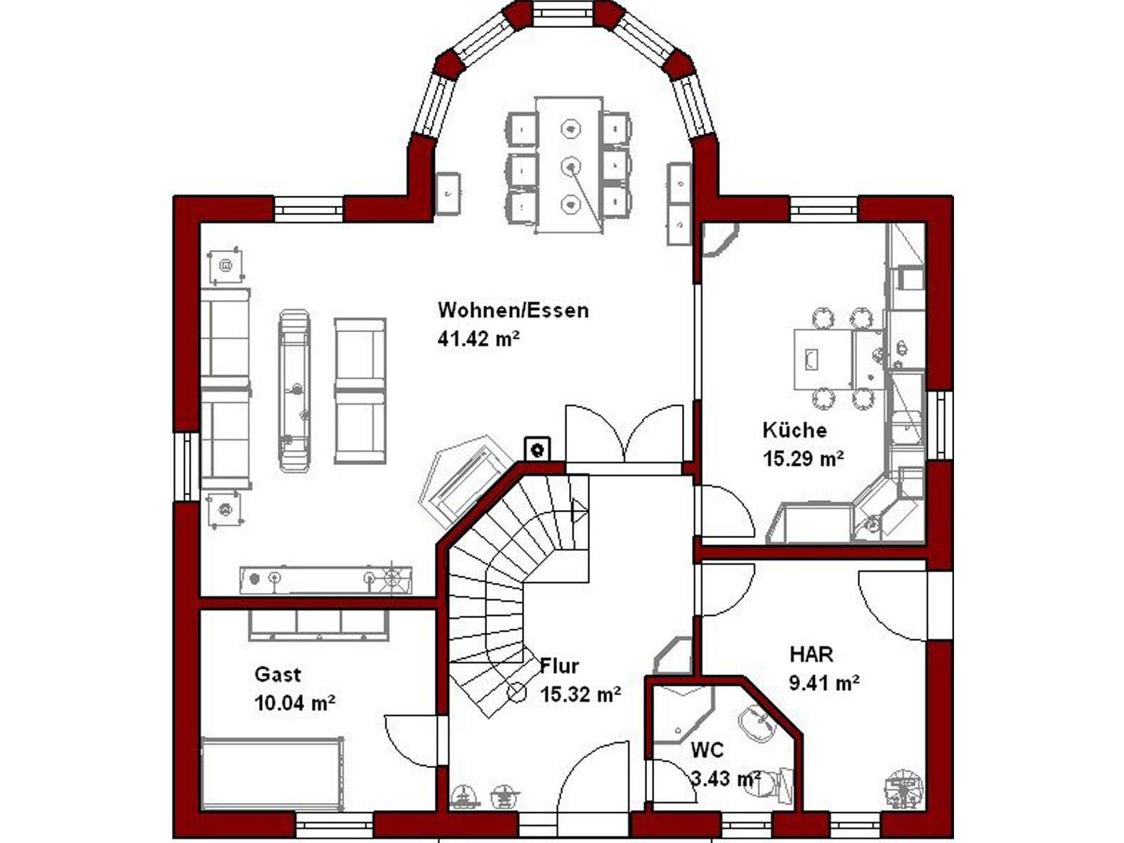 Haus Denver Grundriss Erdgeschoss