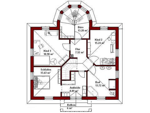 Haus Denver Grundriss Dachgeschoss
