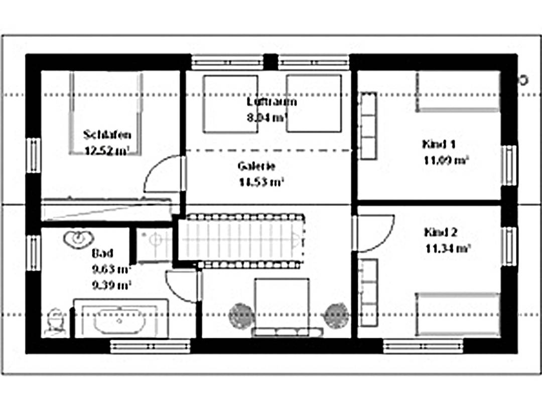 Haus Cosmo Grundriss Dachgeschoss
