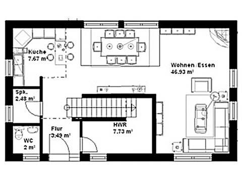 Haus Cosmo Grundriss Erdgeschoss