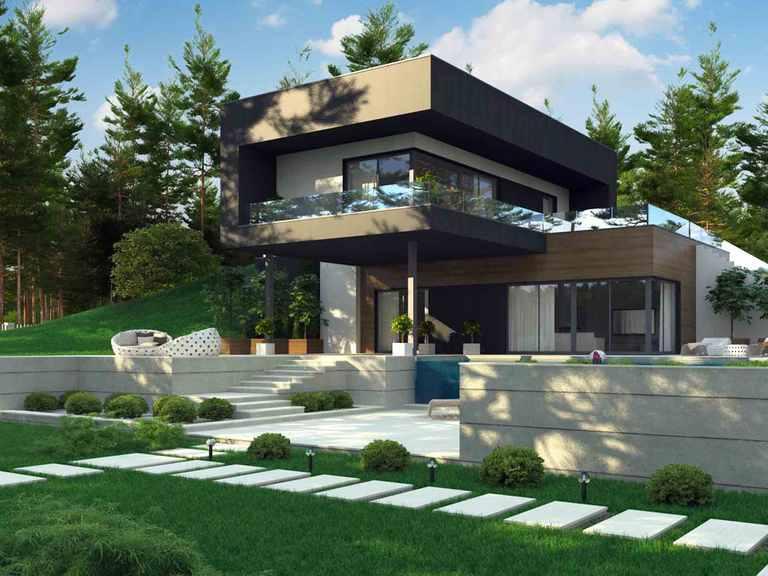 Designerhaus Zx97 mit Hanglage