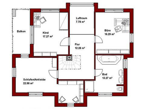 Haus Levin Grundriss Obergeschoss