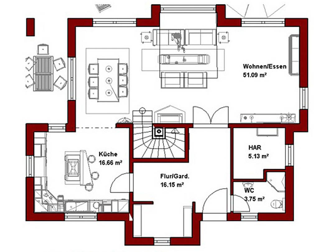 Haus Levin Grundriss Erdgeschoss