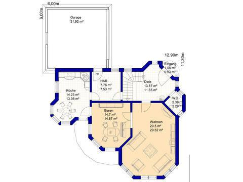 Haus E170 Grundriss Dachgeschoss